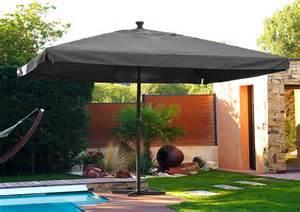 parasol de jardin carr 233 4x4m avec manivelle en aluminium