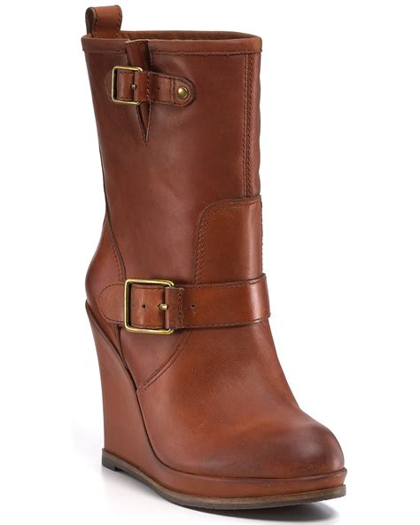 lucky brand quot tatum quot wedge boots bloomingdale s