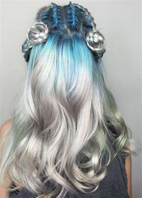 silver blue long hair pictures photos and images for facebook silver blue hair dye www pixshark com images galleries