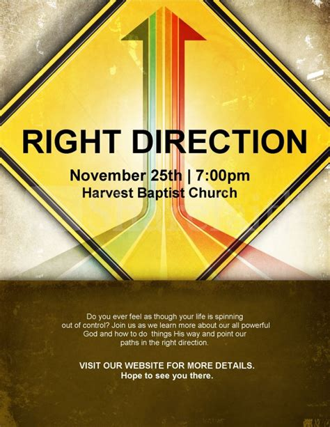 direction church flyer template flyer templates