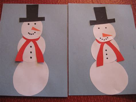 How To Make A Paper Snowman - snowman paper craft kiddie crafts 365