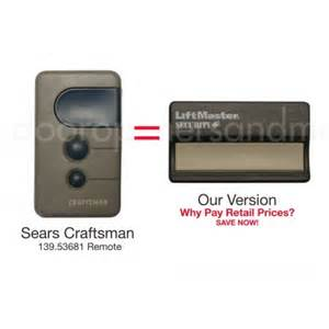 sears craftsman learn button visor garage remote