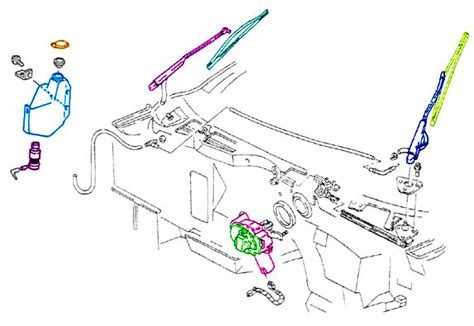 windshield wiper assembly diagram windshield wiper corvette parts and accessories