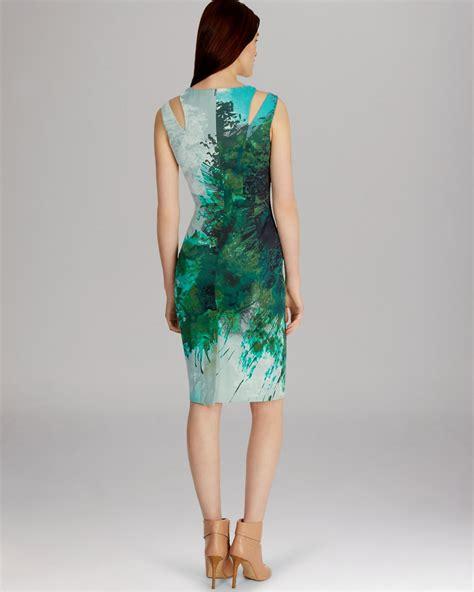 karen millen boat neck dress lyst karen millen dress beautiful paint splash print in