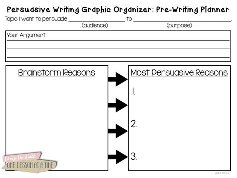 Argumentative Essay Graphic Organizer by Free Graphic Organizer For Persuasive Writing 2nd Grade The Knownledge