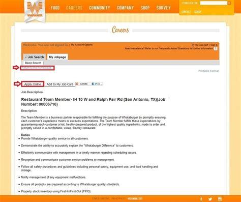 Printable Job Application Whataburger | image gallery whataburger application