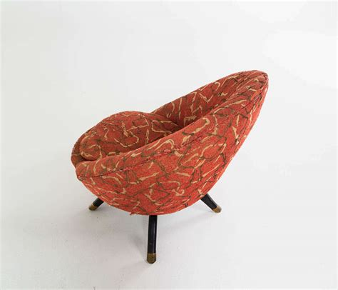 Circle Shaped Chair by Shaped Italian Swivel Lounge Chair In Original