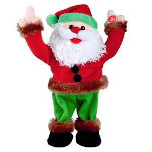 33cm animated musical dancing christmas xmas disco santa
