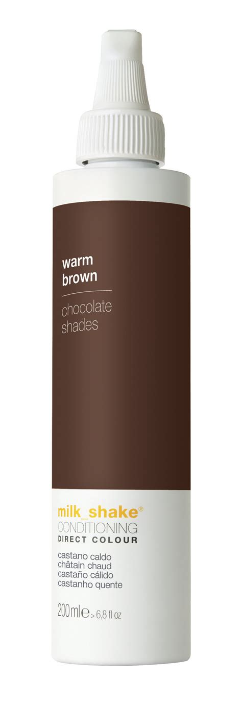Hairstyling Products That Temperaily Give Brunette Hair Warm Brown Tones | milk shake 174 direct colour warm brown milk shake 174 hair