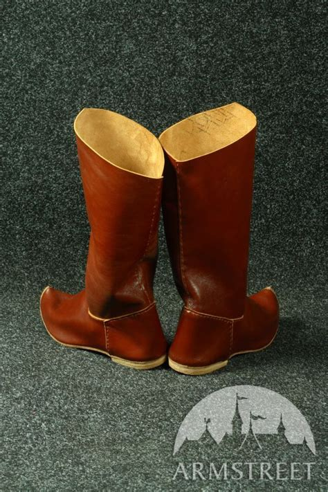 sca boots handmade high classic leather boots for sca and