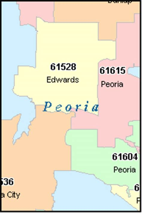zip code map peoria il peoria county illinois digital zip code map