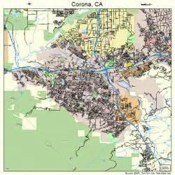 map of corona california corona california map 0616350