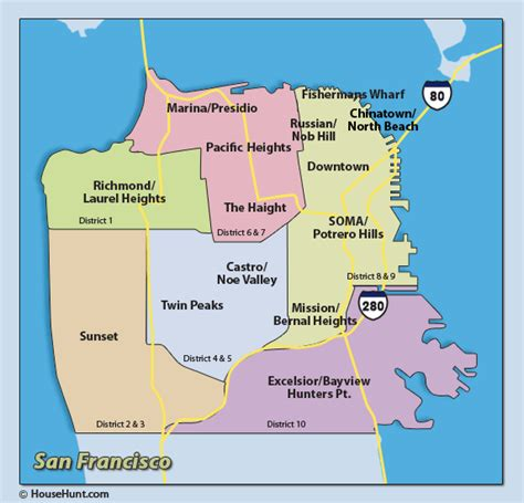 san francisco map districts i left my in san francisco