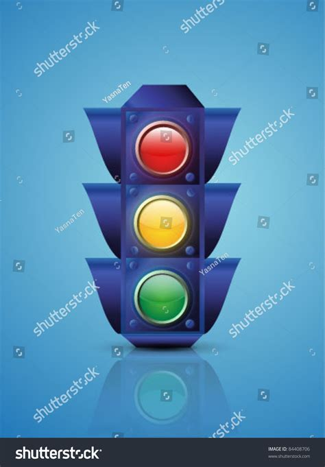 blue lights on traffic signals vector traffic lights on blue 84408706 shutterstock