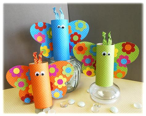 Butterfly Toilet Paper Roll Craft - bobunny kid s craft