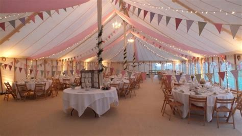 Marquee Ceiling Decorations by Marquee Weddings Cornwall
