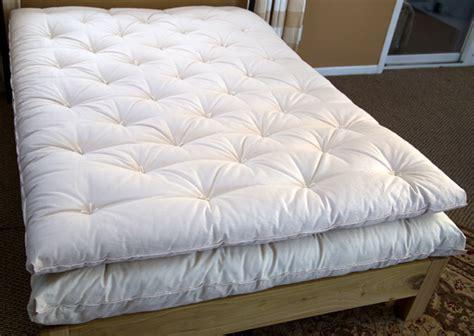 cotton filled futon mattress ultimate organic eco pure wool mattress topper organic
