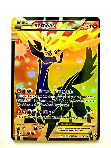 how to make a ex card handmade card xerneas basic ex hp 170 trading card