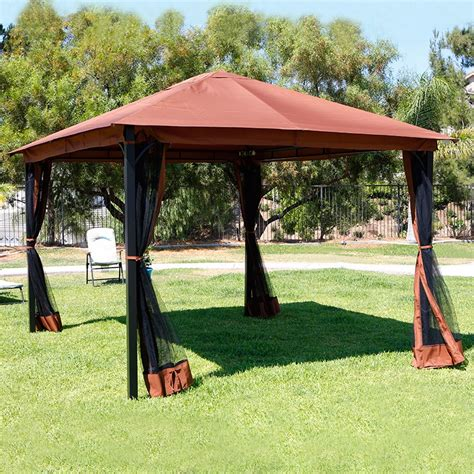 gazebo netting backyard gazebo 10u0027 x 13u0027 outdoor backyard patio