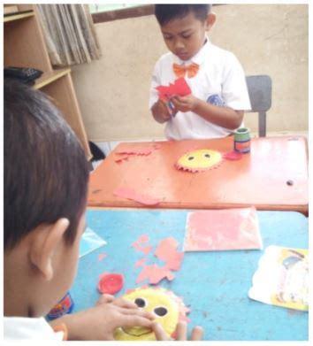 membuat origami mangkuk kreasi berbentuk matahari dari mangkuk kertas karya kak