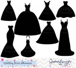 Instant download wedding dress clipart silhouette clipart for