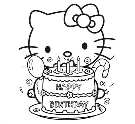 happy birthday coloring pages hello coloring pages happy birthday coloring home