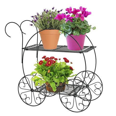 metal iron planter plant stand home decor indoor outdoor