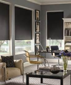 Black Shades For Windows Ideas Designing Home Current Trends In Window Treatments