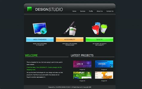 caign monitor html templates web template by coldfire akshat on deviantart