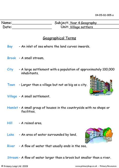geography worksheets primaryleap co uk geographical terms worksheet