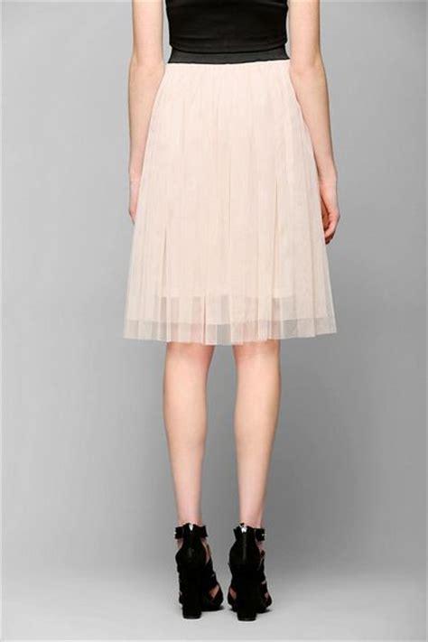 outfitters ballerina tulle midi skirt in beige