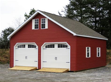 Classy Garage With Red Vinyl Siding Http Www Woodtex Com Vinyl Doors For Barns