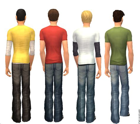 Baggy Ripped By Ganez Shop mod the sims unripped quot untucked quot baggy rippy bum