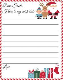 Santa Claus Letter Template by Free Printable Letter To Santa Template