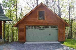 log garage designs 2 car log sided garage