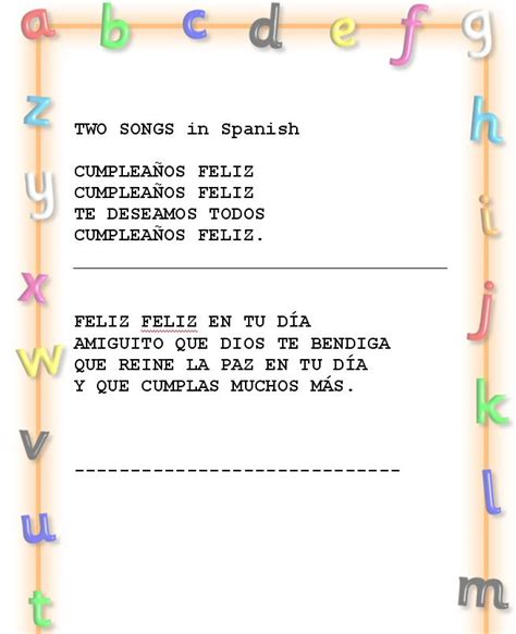 song in spanish happy birthday song in spanish my blog