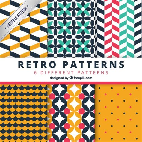 geometric seamless patterns pack vector premium download retro geometric patterns pack vector premium download