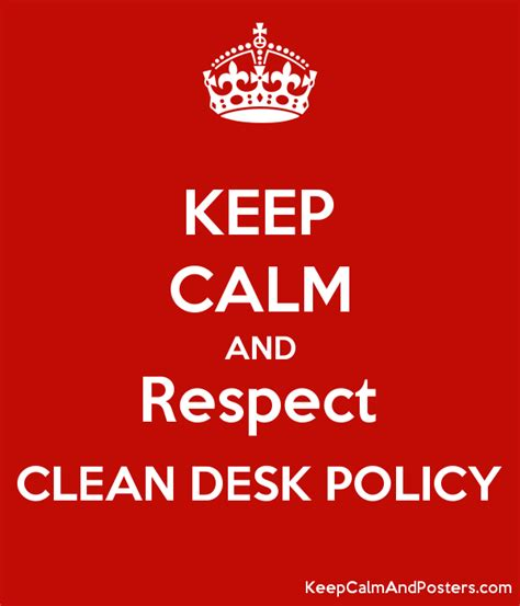 Clean Desk Policy Poster by Clean Desk Policy Poster Hostgarcia