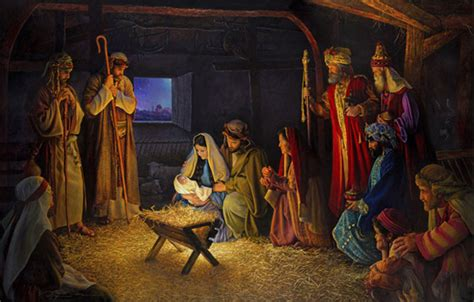 the nativity 22x36 limited edition canvas 1500 s n