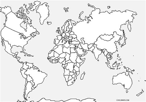 free coloring page world map free printable coloring page world map for adult free