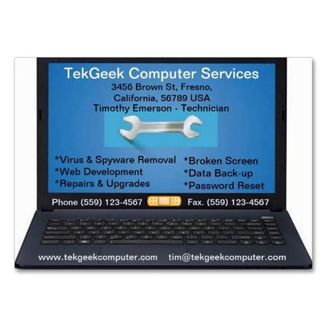 it technician card template computer repair business card astonishing business card