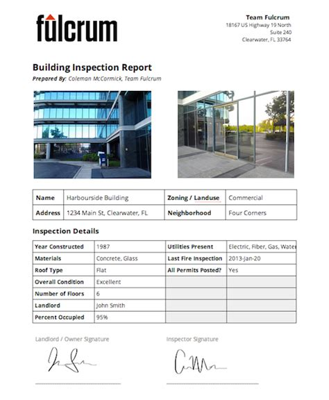building report template building survey report template 28 images ncptt