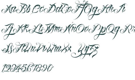 tattoo fonts list fancy letters elaxsir