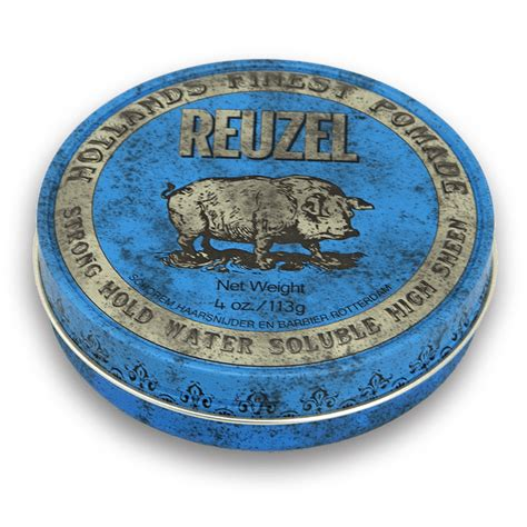 Pomade Chief Blue Waterbased 1 blue pomade strong hold high shine reuzel inc