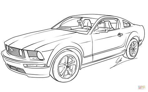 Ford Mustang Auto Zeichen by Ausmalbilder Ford Mustang 466 Malvorlage Autos