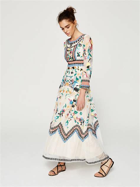 Maxidress Coleba ibiza vestido largo de tul bordado en mioh eu