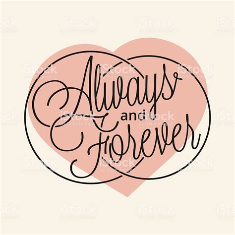 Always And Forever always and forever stock vector more images of 2015