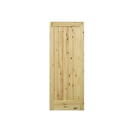 Krosswood Doors 24 In X Krosswood Doors 24 In X 80 In 1 Panel Knotty Pine Right