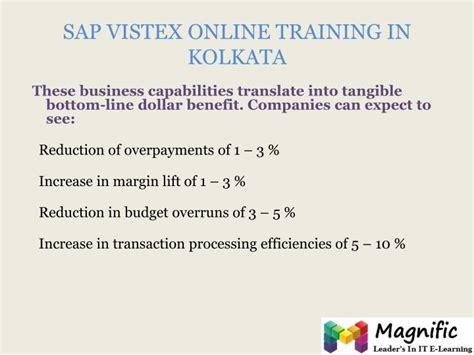 sap tutorial kolkata ppt sap vistex online training powerpoint presentation