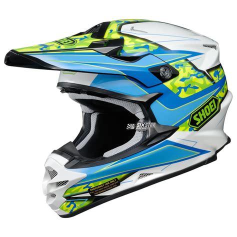 blue motocross helmets shoei vfx w turmoil tc 2 blue white helmet sixstar racing